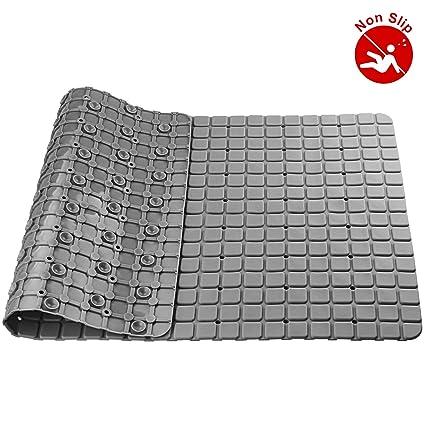 03a06bdfb3d4 A+Selected Bath Shower Mats Non Slip PVC Bathtub Mat with High Grip Suction  Cups