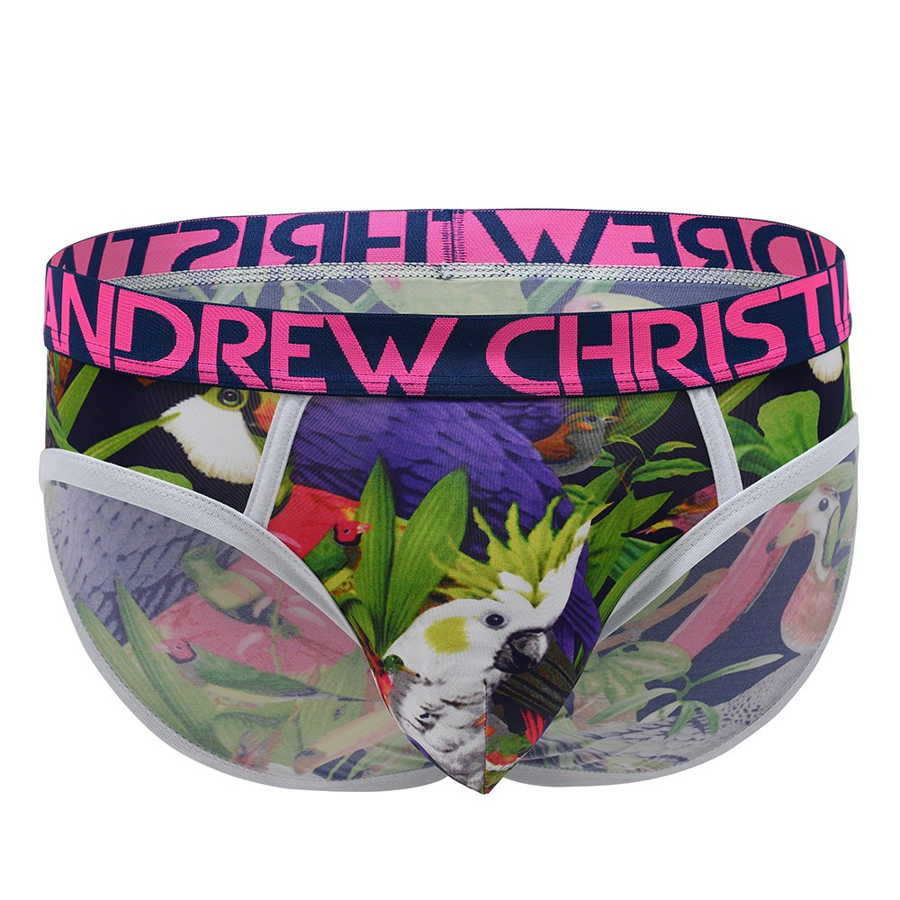Andrew Christian Men's Tropical Birds Brief Boxer 90717