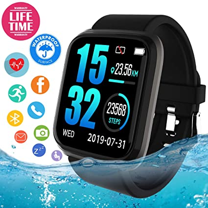 Smart Watch,Smartwatch for Android Phones, Bluetooth Smart Watches Touchscreen with Camera Smart Watch (Smartwatch-822-1)