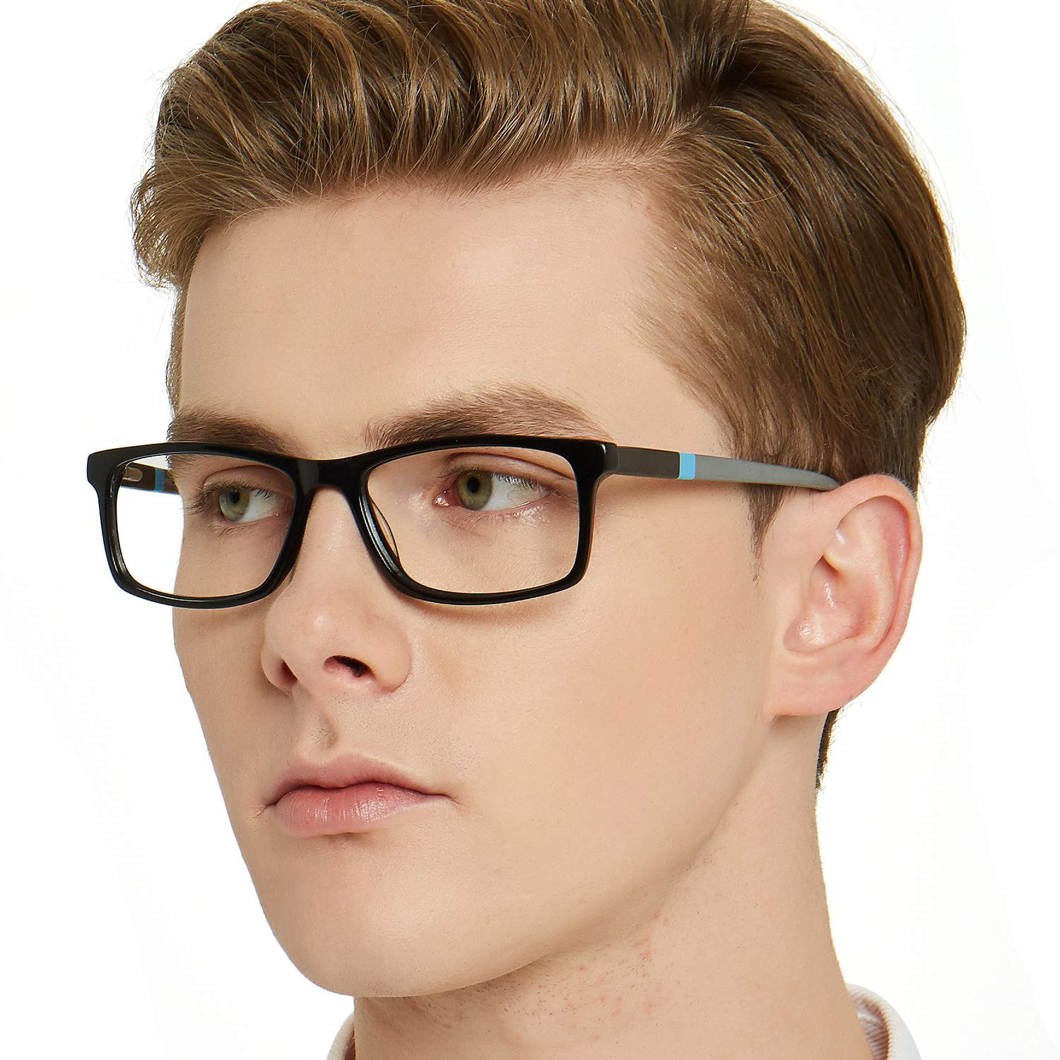 OCCI CHIARI VINTAGE Designer Style Rectangle Frame Clear Lens Eyeglasses (brown) For Women and Men