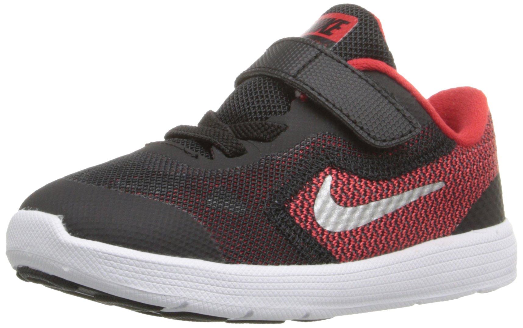 NIKE Boys' Revolution 3 Running Shoe (TDV), University Red/Metallic Silver/Black, 9 M US Toddler