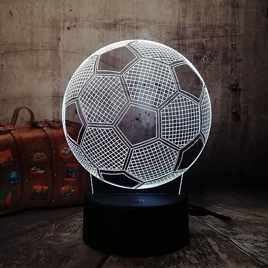 3D Fútbol Fútbol LED Decoración Del Hogar Lámpara de Sueño para ...