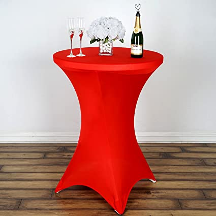 Merveilleux Amazon.com: BalsaCircle 36 Inch Red Cocktail Spandex Fitted Stretchable  Elastic Tablecloth Table Linens Wedding Party Events Decorations: Home U0026  Kitchen