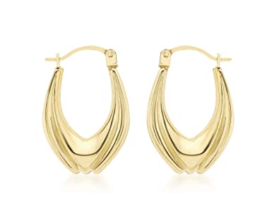 Carissima Gold Women's 9 ct Yellow Gold Figure 8 Twist Creole Earrings McT1V2