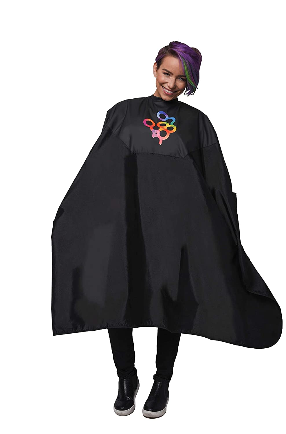 Framar Color Cover - Salon Cape With Rubberized Chest and Neckline, Hair Cape for Hair Dye, Hair Color, Cosmetology Supplies and Hair Coloring