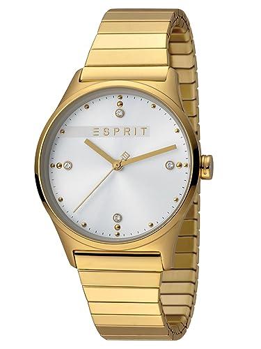 Esprit es1l032e0115 vinrose Silver Oro Mate Reloj analógico ...