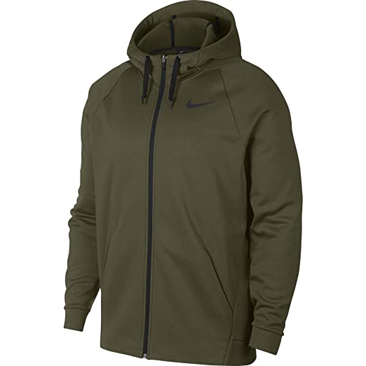 31d2bda6 Nike Men's Dri-FIT Therma Full-Zip Training Hoodie (Small, Olive Canvas