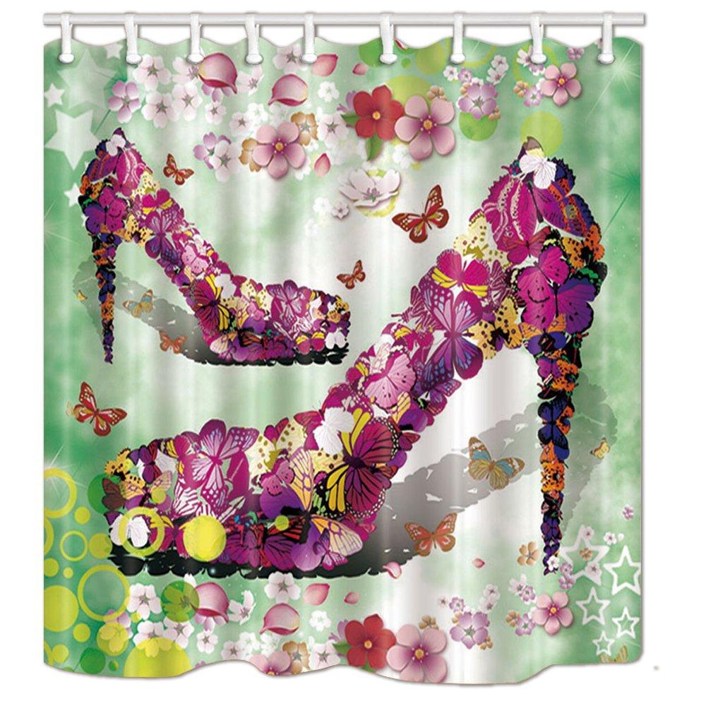 d39f22d669bab Amazon.com: KOTOM Fashion Shower Curtain, Teen Girl Colorful Flower ...
