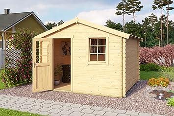 Gartenhaus Mit Fußboden Und Dach ~ Gartenhaus g231 inkl. fußboden 28 mm blockbohlenhaus grundfläche