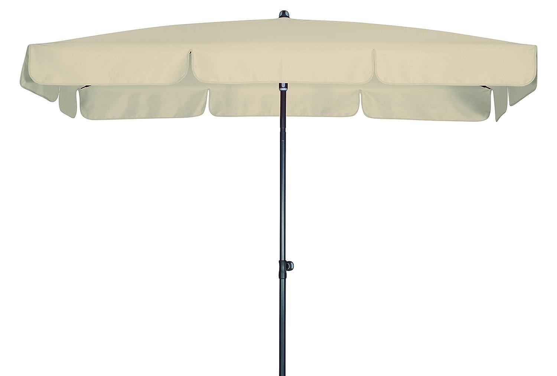 Absolut wasserdichter Gartenschirm Waterproof 260x150 von Doppler mit UV-Schutz 80, Farbe natur