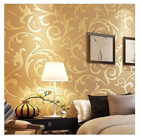 3d Victorian Damask Embossed Wallpaper Rolls Art Tv Background
