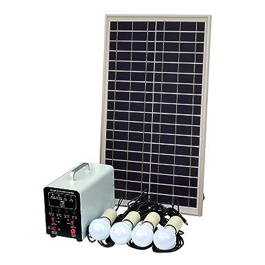 Sistema de iluminación solar (de 25 W con 4 luces LED de 5 W,