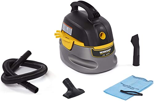 WORKSHOP Wet Dry Vacs Workshop Wet Dry Vac WS0255VA Compact, Portable Wet Dry Vacuum Cleaner, 2.5 gallon Small Shop Vacuum Cleaner, 1.75 Peak Hp Portable Vacuum