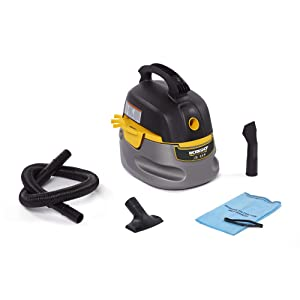 WORKSHOP Wet/Dry Vacs Workshop Wet Dry Vac WS0255VA Compact, Portable Wet Dry Vacuum Cleaner, 2.5 gallon Small Shop Vacuum Cleaner, 1.75 Peak Hp Portable Vacuum