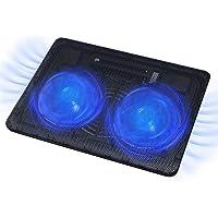 FLAGTOP Almohadilla de refrigeración para portátil, 2 Grandes Ventiladores enfriadores rápidos alimentados por USB, 1400…