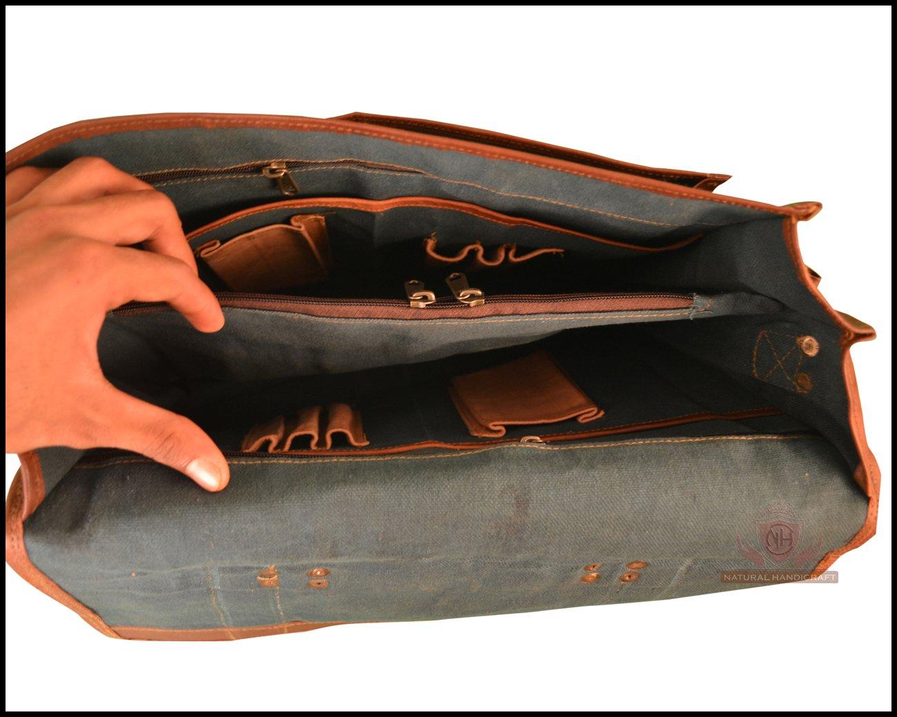 Laptop Messenger Satchel Shoulder Bag Briefcase Handmade Vintage Brown Leather Office Bag Crossbody College Bag 20 Inches