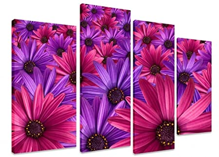 Pink And Purple Flower Carpet Wallpaper 4 Panel Extra Large