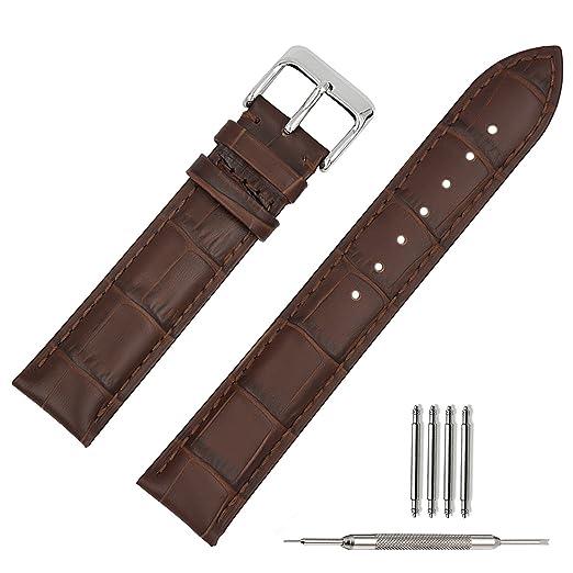 19 opinioni per 20mm Cinturino Per Orologio Da Polso Uomo Donna Di Pelle Cachi Cinturini Da