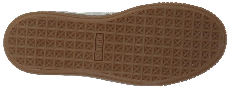 PUMA Women's Basket Platform Euphoria Gum Sneaker B07BX8K6D3 7.5 B(M) US|Puma White-rose Gold