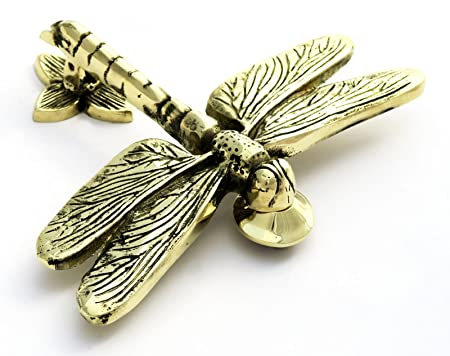 Attractive Solid Brass Dragonfly Door Knocker