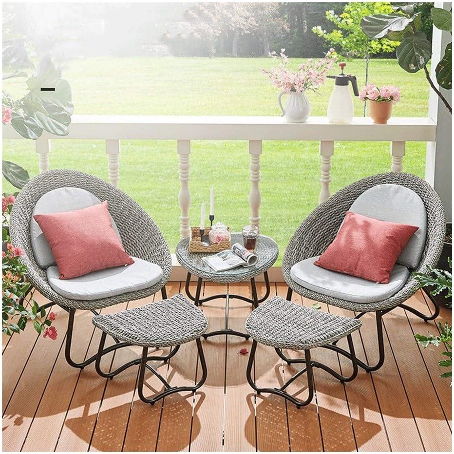 Amazon.com: F&W WF Rattan Lounge Chair Set of 8 - Moon Chair and