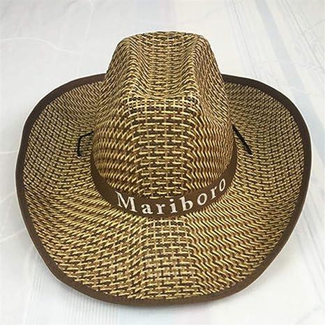 Sombrero de paja informal Sombrero de paja Caballero de pesca masculino Sombrero de vaquero for hombres Sombrero de verano Big Edge Marea de moda femenina Versi/ón coreana del sombrero de playa for j/óv