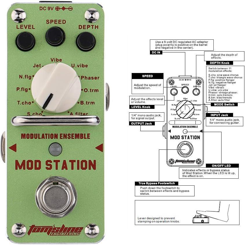 Aroma AMS-3 Modulación Ensemble eléctrico Efecto guitarra pedal ...