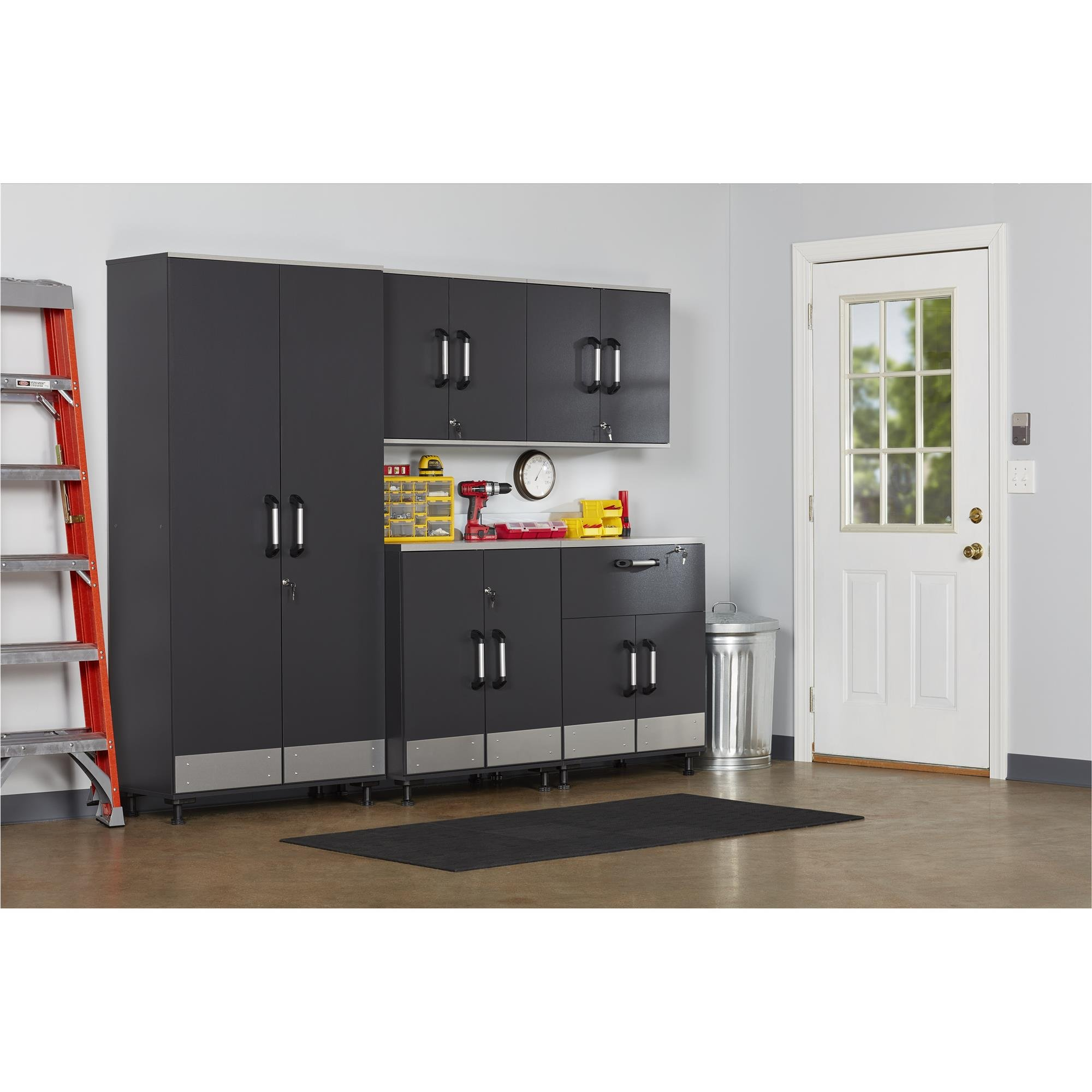 Ameriwood Home Boss -Base Cabinet 2 Door, Charcoal Gray by Ameriwood Home (Image #4)