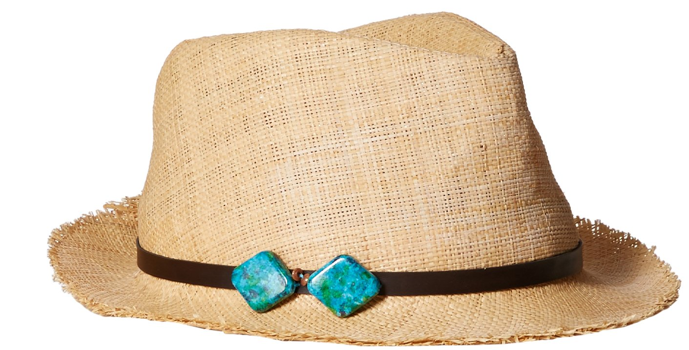Scala Women's Matte Raffia Fedora, Natural, One Size
