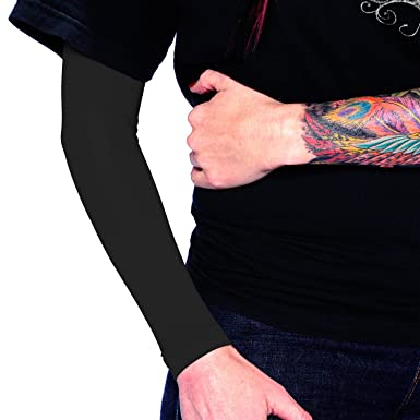 Amazon Com Black Full Arm Tattoo Cover Up Sleeve By Tat2x Cover
