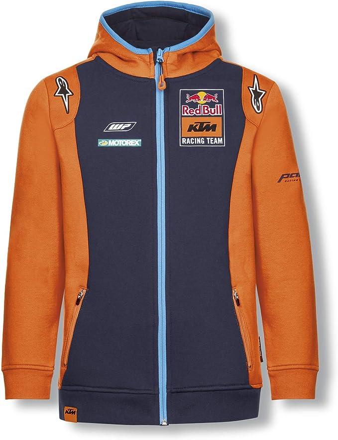 Red Bull KTM Official Teamline Zip Sweat Capuche, Bleu