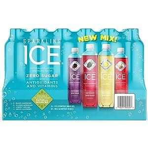 Sparkling ICE Naturally Mix Flavored Sparkling Water Zero Sugar 24/17 Fl Oz Net Wt 408 Fl Oz