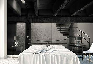 Papel Tapiz Fotomural - Edificio Sótano Escalera De Caracol - Tema Arquitectura - MUESTRA - 104cm x 70.5cm (an. x alto) - 1 Tiras - impreso en papel 130g/m2 EasyInstall - 1X-1344806VEM: Amazon.es: Bricolaje y herramientas