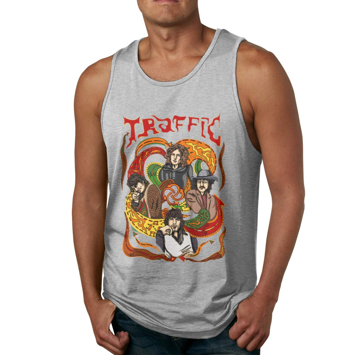 Seuriamin Traffic Band Humor Outdoor Sleeveless Tank Top T Shirt