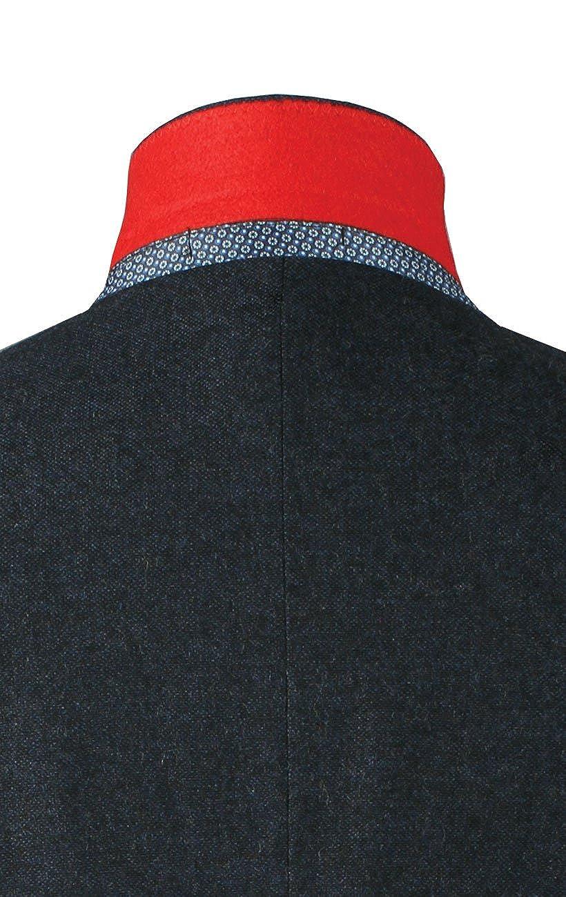 Dobell Mens Navy Donegal Tweed Jacket Regular Fit Notch Lapel