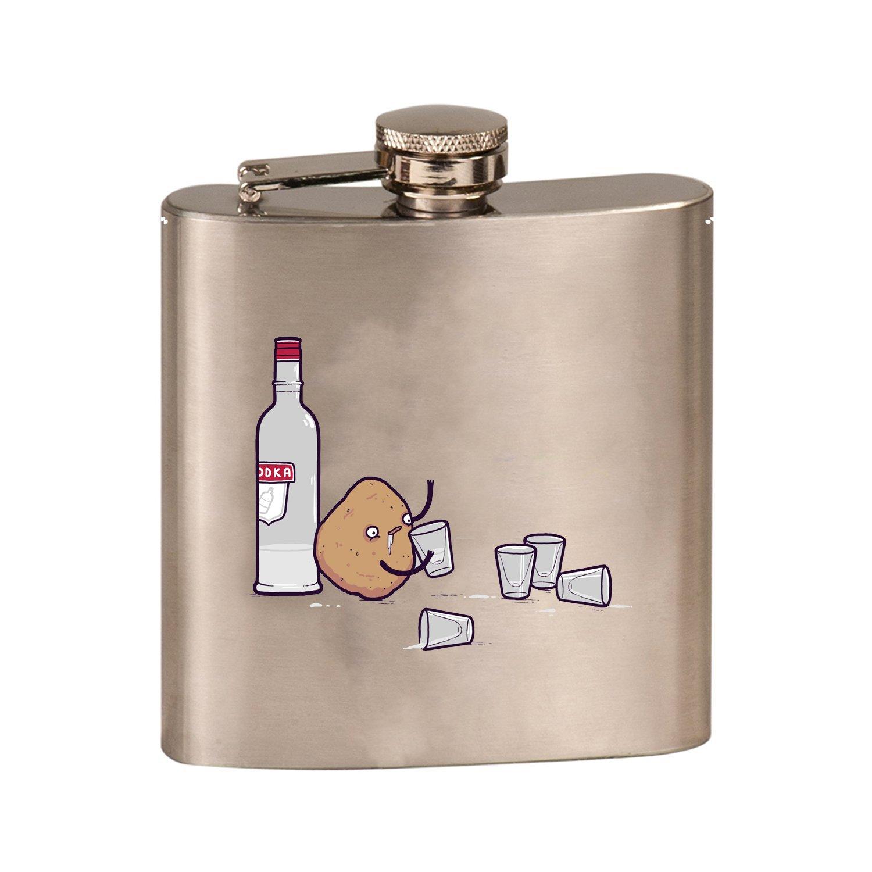 超美品の Vodka B07CNSCFW8 PotatoランディOtter面白いユーモア – – 3dカラープリント6オンスステンレス鋼フラスコ(スチールシルバー) Vodka B07CNSCFW8, 飯山町:c24cb254 --- a0267596.xsph.ru