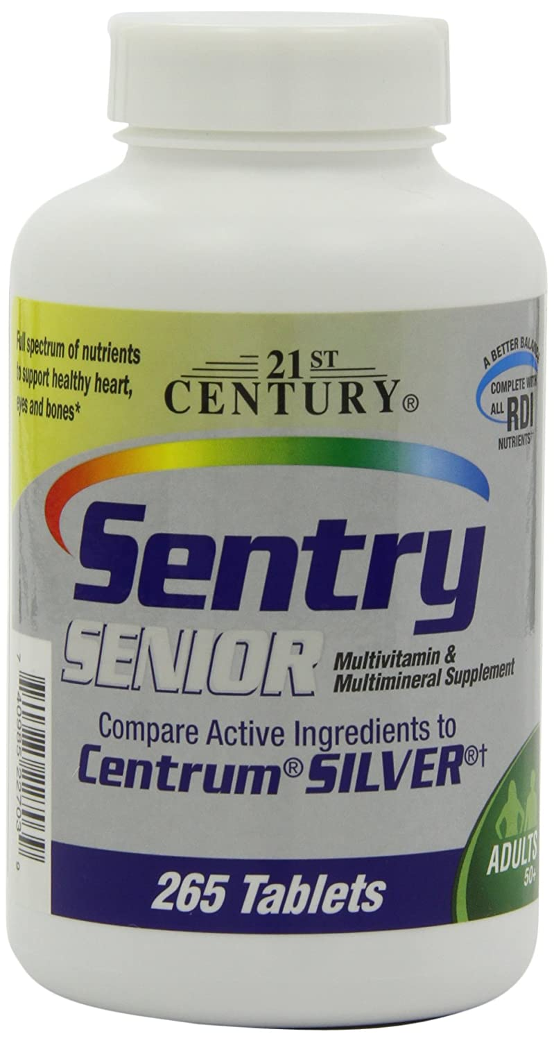 21st Century Sentry Senior, 265 Tablets Pack of 2