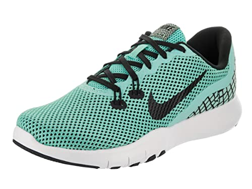 605a122e49ae Nike Women s Flex Trainer 7 Print Aurora Green Black White Training Shoe 8.  5