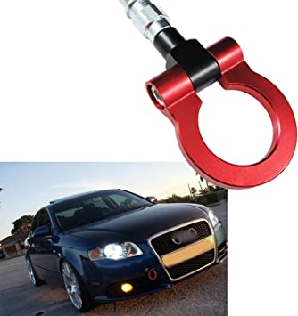 OriginalEuro Silver Racing Tow Hook Eye RS for Audi A3 S3 Sportback A4 S4 RS4 B6 B7 A6 S6 RS6 C6 S Line