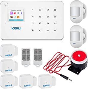 KERUI G183 3G Smart Alarm System for Home Wireless DIY Auto-Dial House Security Burgle Alarm System Classic Kits,Easy to Install and Remote Controlled by APP,SMS, Call