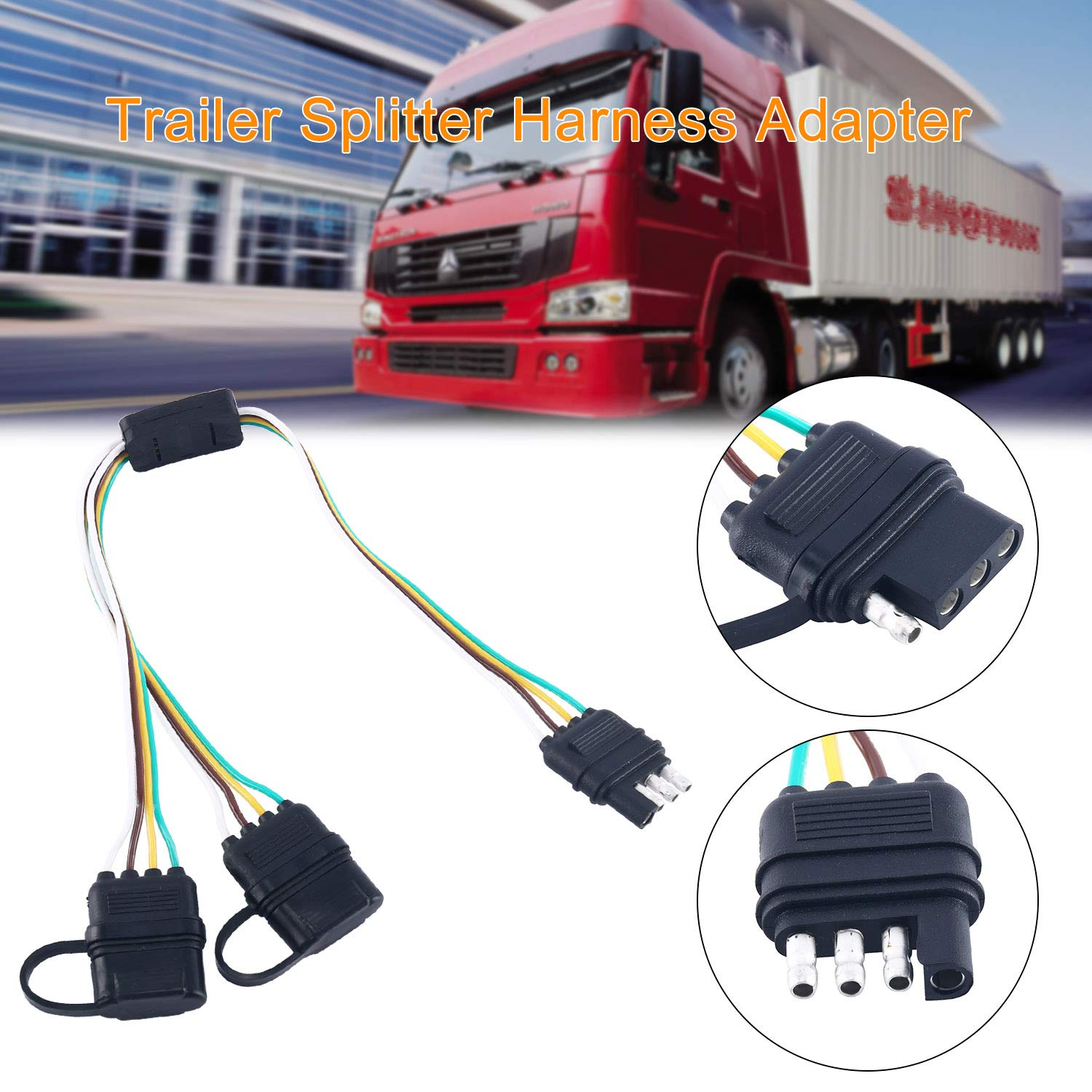 transport wire harness wiring libraryamazon com universal 4 way flat separator plug \u0026 play adapter extension harness for