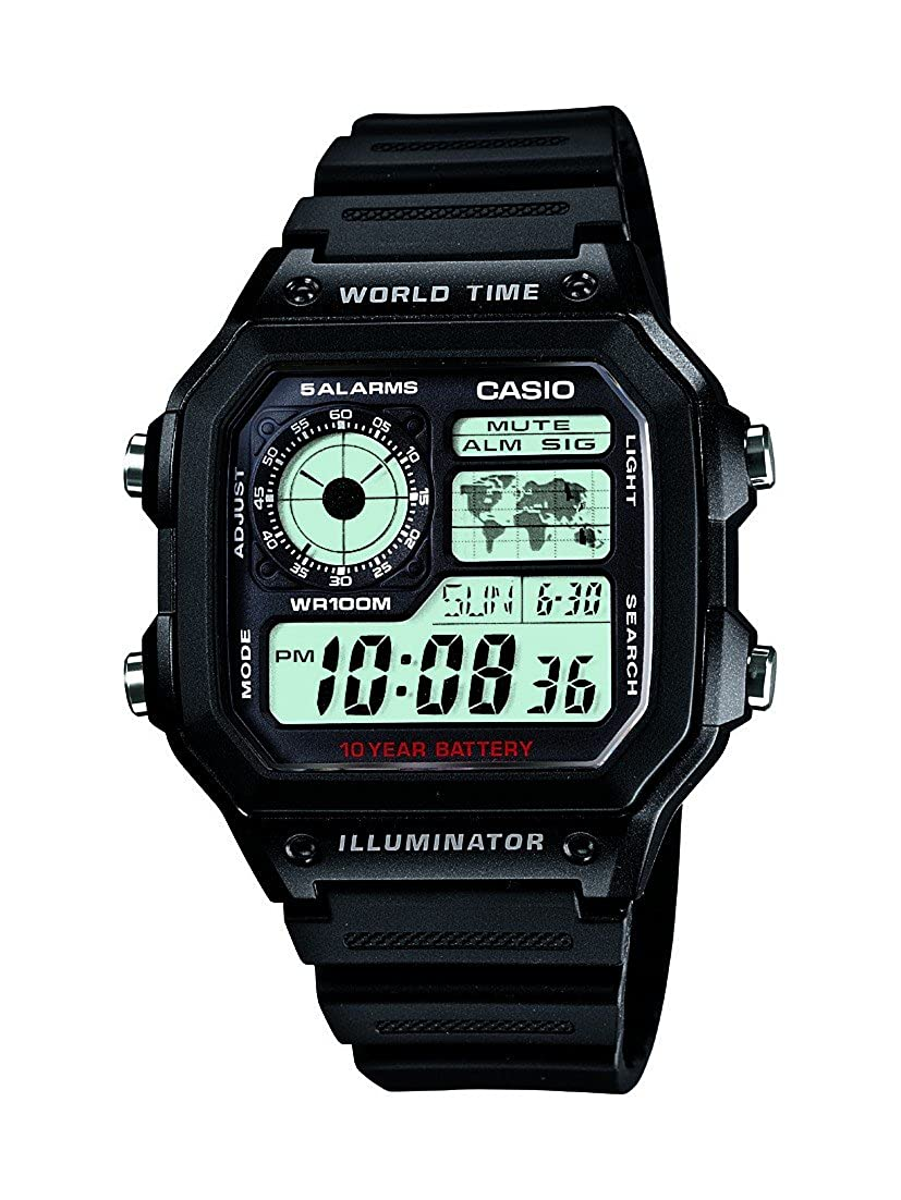 Casio Youth Grey Dial Men's Watch - AE-1200WH-1AVDF (D097) Best Sports Watches For Men to Buy Right Now in India