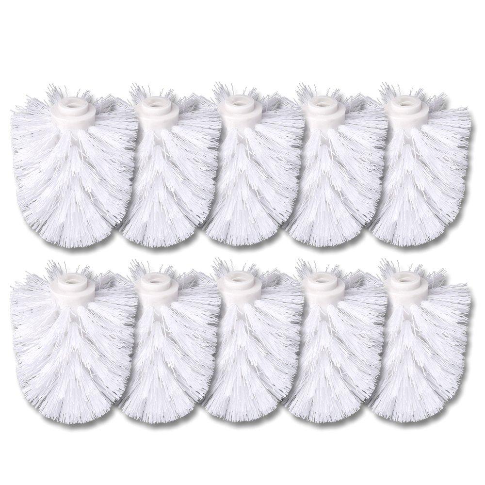 schramm® 10Pack WC Cepillos de repuesto Color Blanco para cepillos Blanco cabezal individualmente wechselbar with Escobilla–Escobilla de baño de recambio Baños de cepillo cepillos Schramm Onlinehandel