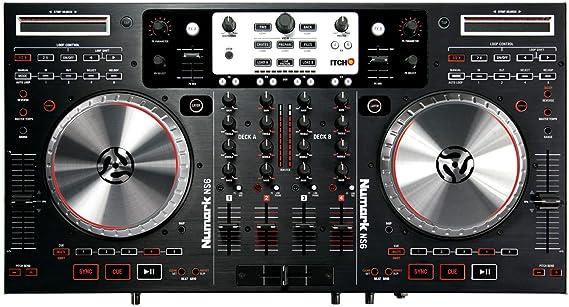 Numark NS6 Mesa de mezclas digital DJ 4 Decks USB Audio: Amazon.es ...