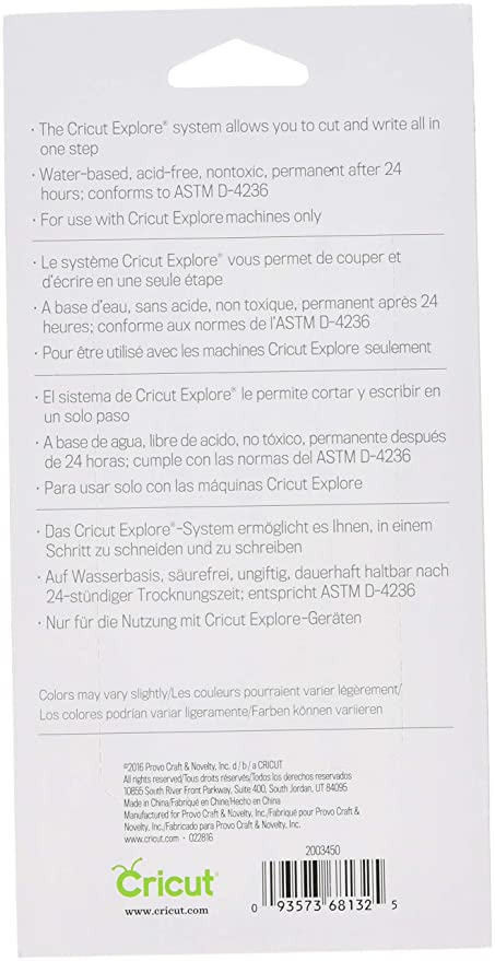 Amazon.com: Cricut 2003450 Color Antiquity Fine Point Pen Set Assorted, Multi