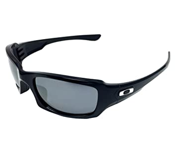 e018aaee210 New Oakley Five Squared 9238-06 Polished Black  Black Iridium Polarized  Sunglasses