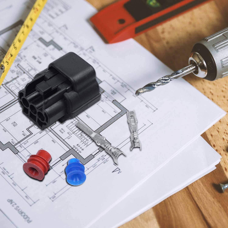 Nrpfell Plastic Connecteurs Voiture /étanches Plug 3 Pin