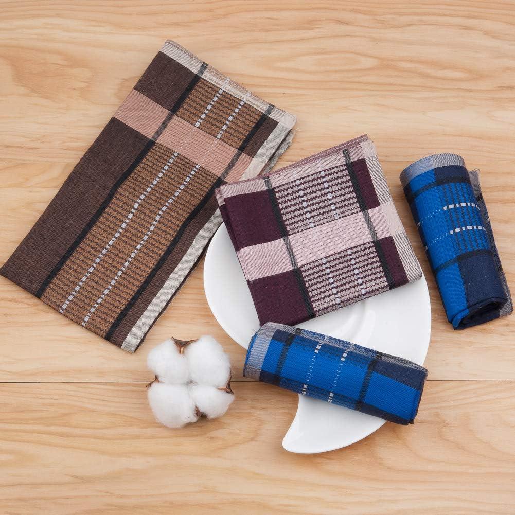HOULIFE Houllife 3 colori per uso quotidiano 6//12 pezzi 40 x 40 cm Fazzoletti da uomo in puro cotone