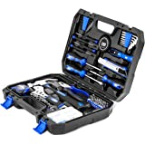 120-Piece Home Repair Tool Set, PROSTORMER General Household Hand Tool Kit with Tool Box Storage Case for Apartment…