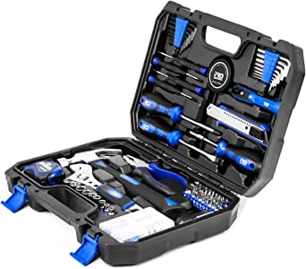 120-Piece Home Repair Tool Set, PROSTORMER General Household DIY Tool Kit with Tool Box Storage Case for House, Office, Dorm and Apartment